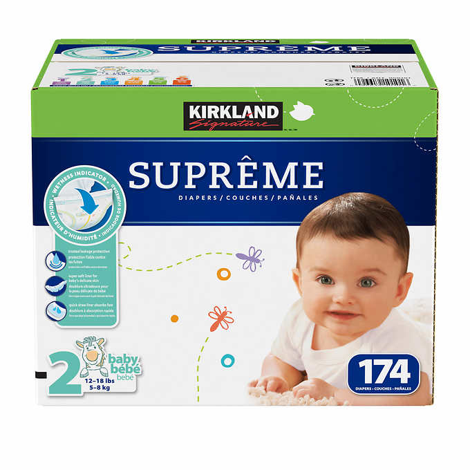 kirkland signature supreme diapers sizes 1 6 my online store. Black Bedroom Furniture Sets. Home Design Ideas