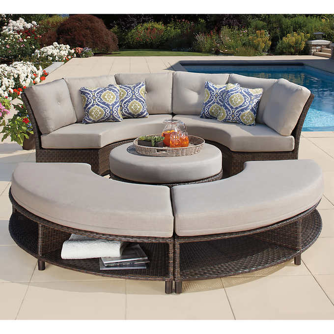 Circular Outdoor Sectional Off 63, Round Outdoor Sectional